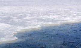Ghiaccio sul lago Immagine Stock