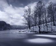 Ghiaccio sul lago. Fotografia Stock
