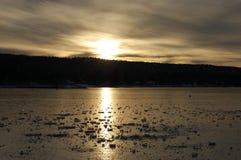 Ghiaccio sul lago Fotografia Stock