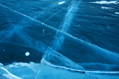 Ghiaccio sulla superficie del lago Baikal Immagine Stock