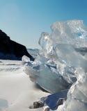 Ghiaccio sulla superficie del lago Baikal Immagini Stock