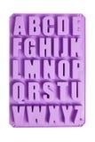 Ghiaccio Tray English Alphabet del silicone Immagini Stock Libere da Diritti