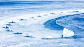 Curva del ghiaccio Immagini Stock