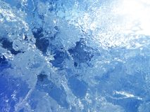 Ghiaccio variopinto Sottragga la struttura del ghiaccio Priorità bassa della natura Immagine Stock Libera da Diritti