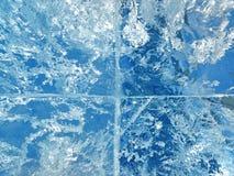 Ghiaccio variopinto Sottragga la struttura del ghiaccio Priorità bassa della natura Fotografie Stock Libere da Diritti