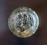 Ghiaccio in vetro Immagine Stock Libera da Diritti