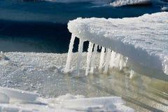Ghiaccioli del ghiaccio Fotografia Stock