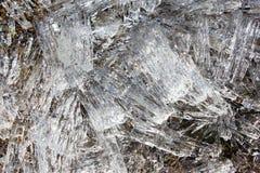 Ghiaccioli del ghiaccio del fiume Il ghiaccio è come un cristallo Fotografie Stock Libere da Diritti