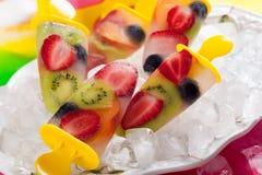 Ghiaccioli della frutta Fotografia Stock