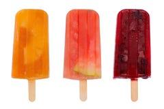 Ghiaccioli della frutta immagini stock