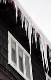 Ghiaccioli di inverno fotografia stock