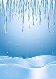 Ghiaccioli di inverno Immagini Stock