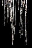 Ghiaccioli - il nero Fotografia Stock Libera da Diritti