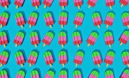 Ghiaccioli svegli variopinti rappresentazione 3d illustrazione di stock