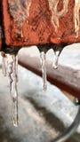 Ghiacciolo nell'inverno Fotografia Stock