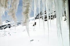 Ghiacciolo su Jungfrau, montagna Fotografia Stock