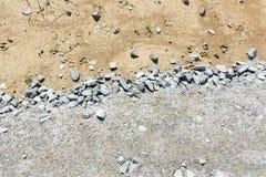 Ghiaia e sabbia fini di struttura immagine stock