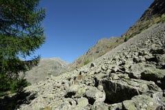 Ghiaione in alpi, Francia Fotografie Stock