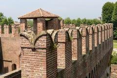 Ghibelline merlons, Soncino Castle Stock Image