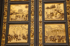 Ghiberti Paradise Baptistery Bronze Door Florence Royalty Free Stock Images