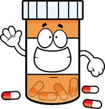 Ghignare della bottiglia di pillola del fumetto Fotografia Stock