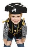 Ghignare il pirata della bambina Immagini Stock