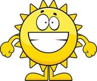 Ghignare Sun del fumetto Immagini Stock Libere da Diritti