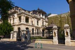 Ghika Bradisteanu豪宅在布加勒斯特 免版税库存照片