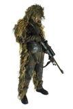 костюм снайпера ghillie Стоковая Фотография