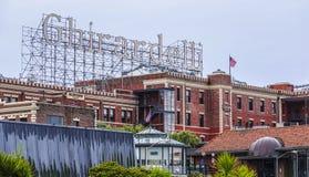 Ghiradelli Chocolate Factory in San Francisco - SAN FRANCISCO / CALIFORNIA - APRIL 18, 2017 stock image