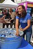Ghirardelli chocolate festival Zico water booth Stock Photo