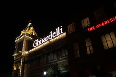 Ghirardelli Chocolate Store. At night at Universal Studios theme park in Orlando Florida Royalty Free Stock Photos