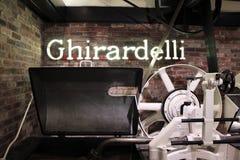 Ghirardelli - manifattura originale del cioccolato Immagini Stock