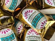 Ghirardelli Milk Chocolate Caramel Egg Easter Candy Stock Photo
