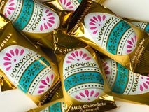 Ghirardelli Milk Chocolate Caramel Egg Easter Candy Royalty Free Stock Image