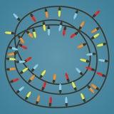 Ghirlanda con le luci colorate Fotografia Stock