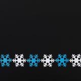 Ghirlanda dei fiocchi di neve Fotografia Stock