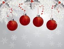 Ghirlanda del buon anno con un'illustrazione di 2014 ornamenti Immagini Stock Libere da Diritti