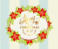 Ghirlanda del vischio di Natale Fotografie Stock Libere da Diritti