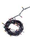 Ghirlanda dell'albero di Natale su un fondo bianco fotografie stock libere da diritti