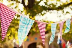Ghirlanda delle bandiere Fotografie Stock