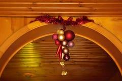 Ghirlanda delle decorazioni di Natale Fotografia Stock Libera da Diritti