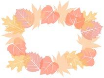 Ghirlanda di autunno delle foglie luminose di caduta Fotografia Stock Libera da Diritti