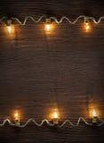 Ghirlanda di celebrazione delle lampadine Fotografia Stock