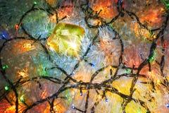 Ghirlanda di colore e del regalo di Natale immagini stock libere da diritti