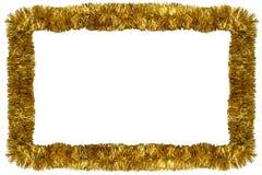 Ghirlanda di natale dell'oro Fotografia Stock Libera da Diritti
