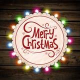 Ghirlanda di Natale di luce Immagine Stock Libera da Diritti