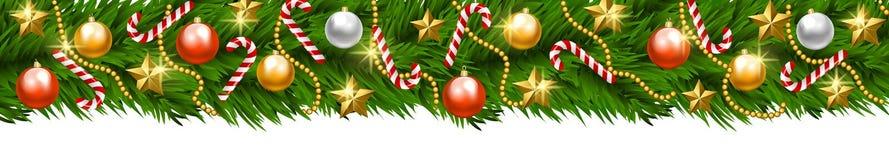 Ghirlanda di Natale isolata illustrazione vettoriale