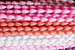 Ghirlanda differente della perla di colore Fotografia Stock