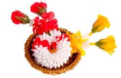 Ghirlanda fatta da molti fiore Fotografie Stock
